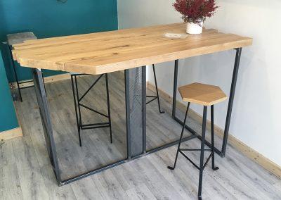Table haute et tabouret haut