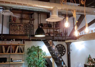 Biblioothèque, mezzanine et escalier - Pierre Yves et Laure