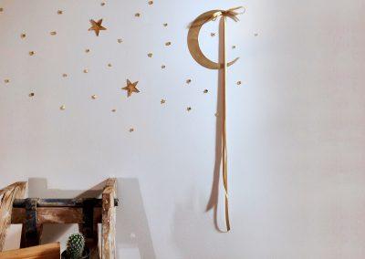 Lune en laiton - différentes tailles entre 6€ et 12€ | Petite étoile en laiton- 5€
